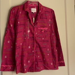 NWT Victoria's Secret pajama top only